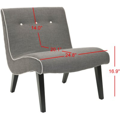 Soules Side Chair Upholstery: Charcoal Brown
