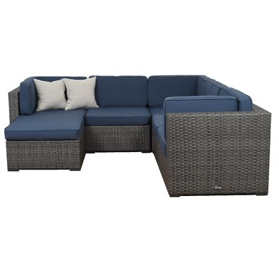Lorentzen 6 Piece Deep Seating Group with Cushion Fabric: Grey