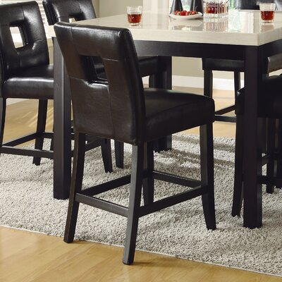 Mckinnie 24 inch Bar Stool (Set of 2) Finish: Black