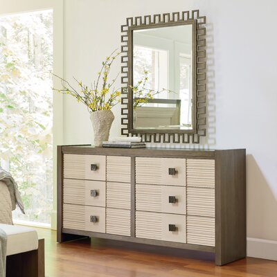 Synchronicity 6 Drawer Double Dresser with Mirror