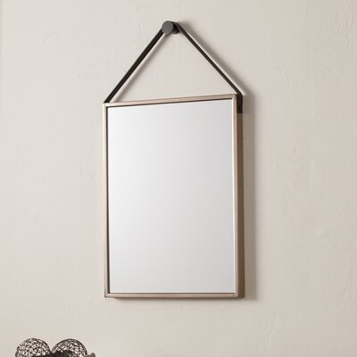 Rectangle Champagne and Black Iron Decorative Wall Mirror