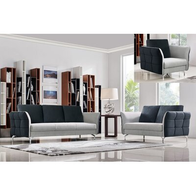 Oakman 3 Piece Living Room Set