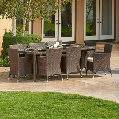 Galbreath 9 Piece Patio Set with Cushions
