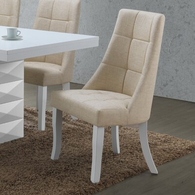 Fortunato Side Chair Upholstery: Beige