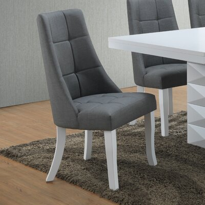 Fortunato Side Chair Upholstery: Gray