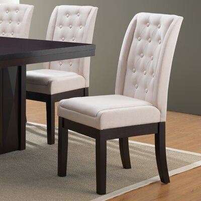 Gonser Upholstered Dining Chair Upholstery Color: Bone