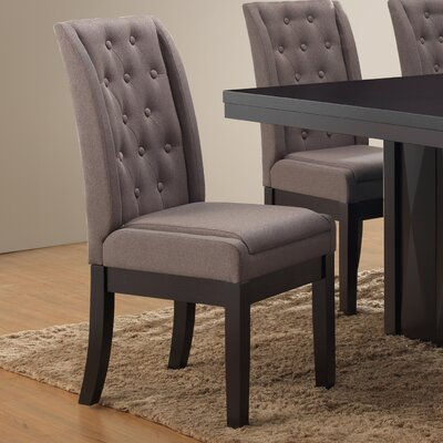 Gonser Upholstered Dining Chair Upholstery Color: Gray