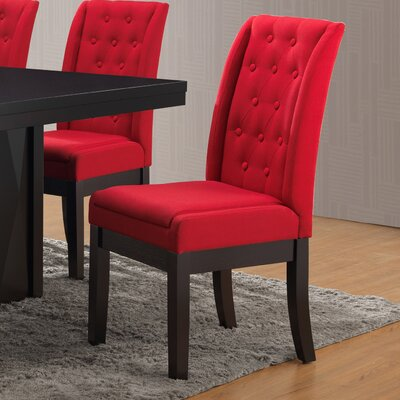 Gonser Upholstered Dining Chair Upholstery Color: Red