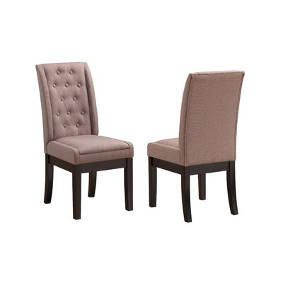 Gonser Upholstered Dining Chair Upholstery Color: Walnut