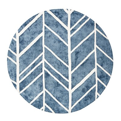 Castleberry Blue/Ivory Area Rug Rug Size: Rectangle 4 x 6