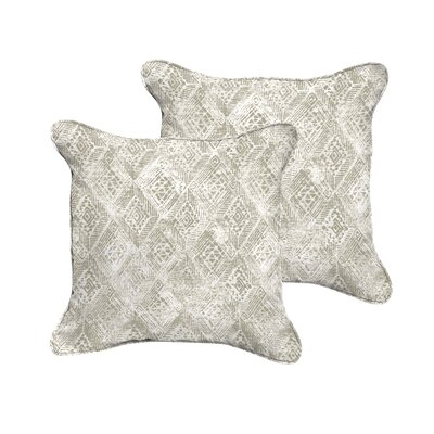 Hansley Geometric Piped Indoor/Outdoor Throw Pillow Size: 18 H x 18 W x 6 D
