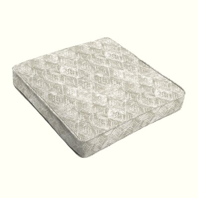Falcone Geometric Piped Indoor/Outdoor Dining Chair Cushion Size: 3 H x 19 W x 19 D