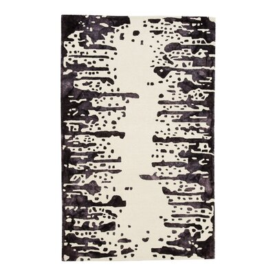 Cheesman Hand-Tufted Natural/Plum Area Rug Rug Size: 8' x 10'