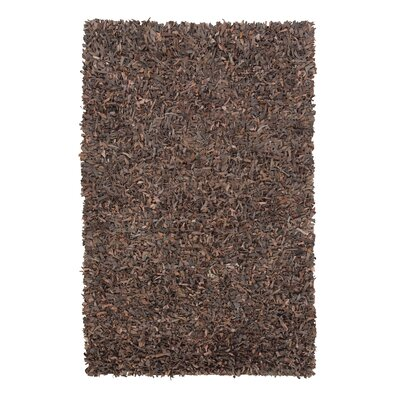 Boutte Hand-Woven Brown Area Rug Rug Size: 5' x 8'