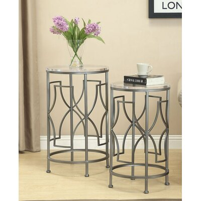Brayden Studio Burkholder 2 Piece Nesting Tables