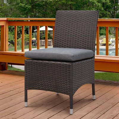 Orion Dinning Side Chair with Cushion Fabric: Gray