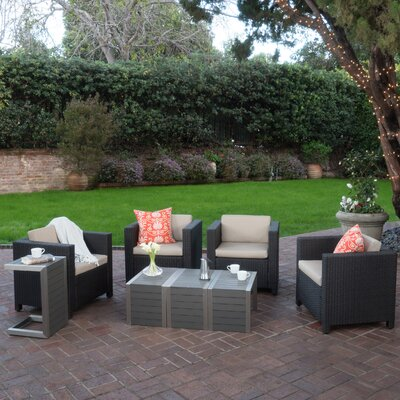 Homer Outdoor 8 Piece Deep Seating Group with Cushions