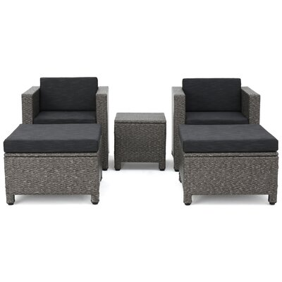 Ballew Outdoor Wicker 10 Piece Deep Seating Group with Cushions Finish: Dark Gray
