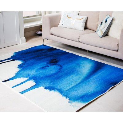 Cornejo Blue Area Rug Rug Size: Rectangle 5 x 8