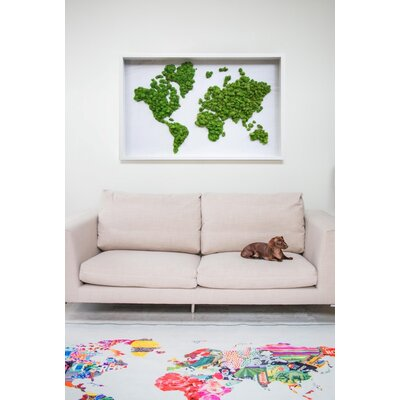 Lovelace Hipster Mapa Mundi Area Rug Rug Size: Rectangle 8 x 10