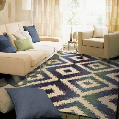 Courts Beige/Blue Area Rug