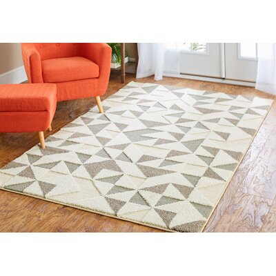 Nickson Chevron Arrow Gray/Cream Area Rug Rug Size: 5 x 8
