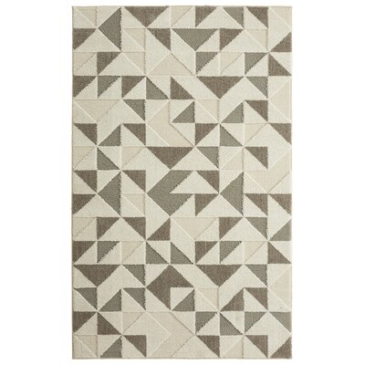 Nickson Modern Triangles Gray/Cream Area Rug Rug Size: 5' x 8'