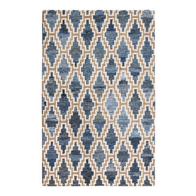 Bolanos Hand-Tufted Blue/Beige Area Rug