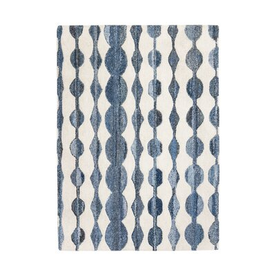 Eckman Hand-Tufted Blue/Ivory Area Rug Rug Size: 8 x 10