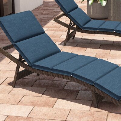 Fortenberry Outdoor Chaise Lounge Cushion Fabric: Navy