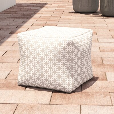 Danko Large Ottoman Fabric: Gray