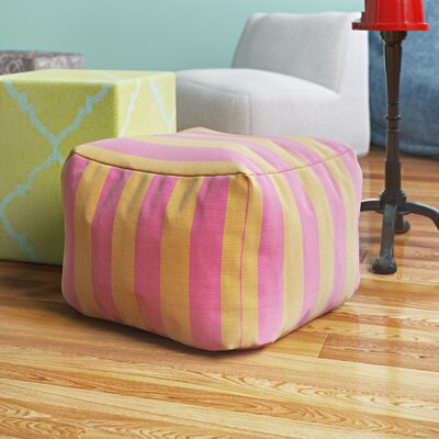 Mosquera Pouf Upholstery: Burnt Orange / Magenta