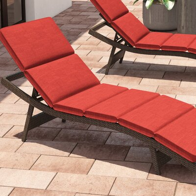Fortenberry Outdoor Chaise Lounge Cushion Fabric: Brick
