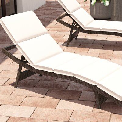 Fortenberry Outdoor Chaise Lounge Cushion Fabric: Beige