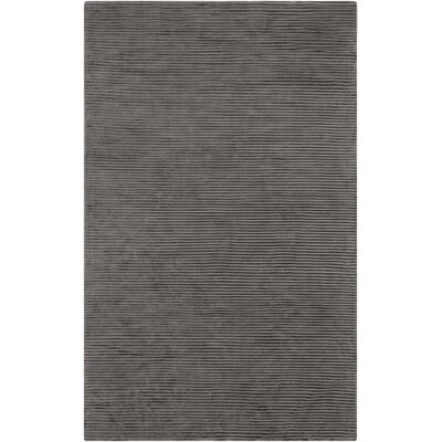 Esser Graphite Iron Ore Striped Area Rug Rug Size: 33 x 53