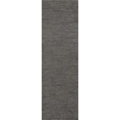 Esser Graphite Iron Ore Striped Area Rug Rug Size: Runner 26 x 8