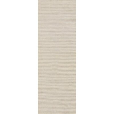 Dinardo Graphite Papyrus Striped Area Rug Rug Size: Runner 26 x 8