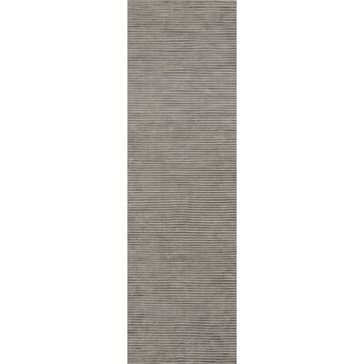Gemmill Graphite Gray Sage Stripes Area Rug Rug Size: Runner 26 x 8