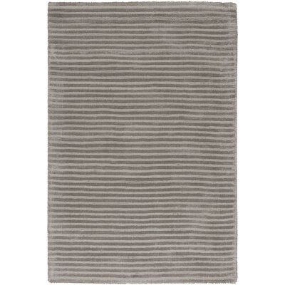 Gemmill Graphite Gray Sage Stripes Area Rug Rug Size: 2' x 3'