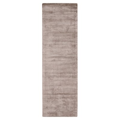 Cerny Graphite Ivory Striped Rug Rug Size: Runner 26 x 8