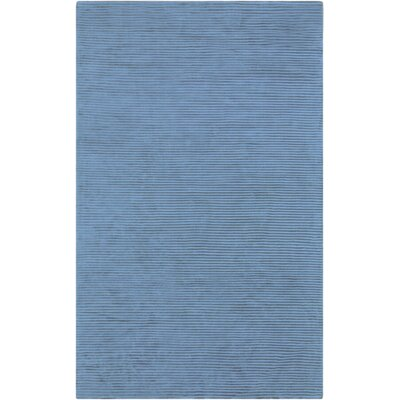 Braun Graphite Bright Cerulean Striped Area Rug Rug Size: 5 x 8