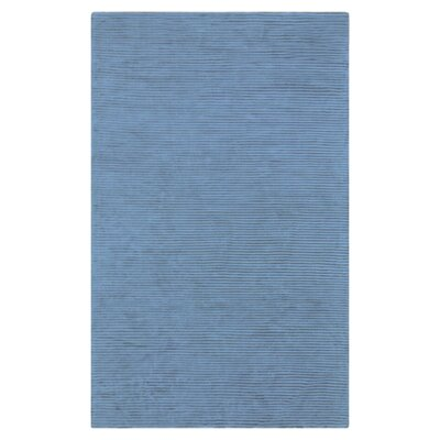 Braun Graphite Bright Cerulean Striped Area Rug Rug Size: 9 x 13