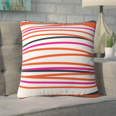 Banda Stripe Warm Indoor/Outdoor Throw Pillow Size: 18 H x 18 W