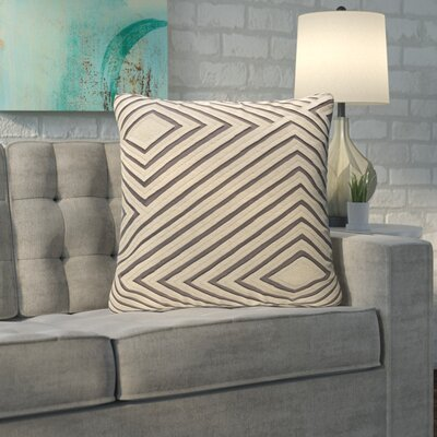 Rieder Cotton Throw Pillow Size: 22 H x 22 W x 4 D, Color: Medium Gray