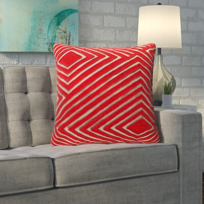 Rieder Cotton Throw Pillow Size: 20 H x 20 W x 4 D, Color: Bright Orange/Camel