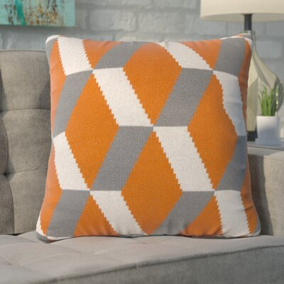 Gatti Cashmere Throw Pillow Color: Orange