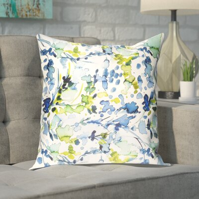 Mishler Silk Pillow Cover Size: 18 H x 18 W x 1 D, Color: Blue