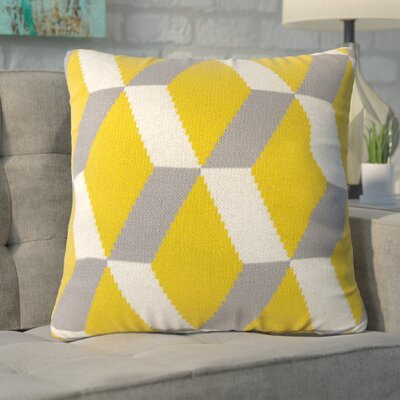 Gatti Cashmere Throw Pillow Color: Yellow
