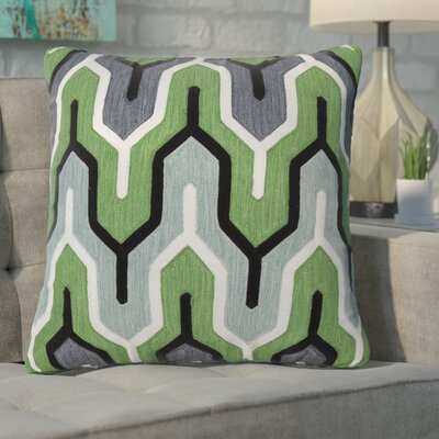 Alamak Modern Throw Pillow Color: Green