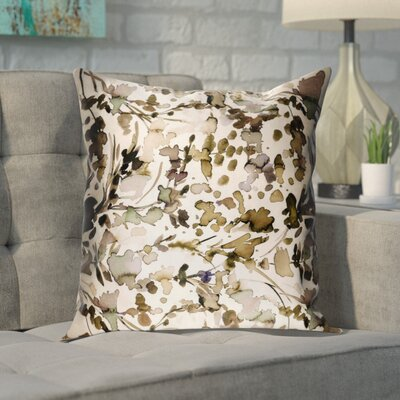 Mishler Silk Pillow Cover Size: 20 H x 20 W x 0.25 D, Color: Brown